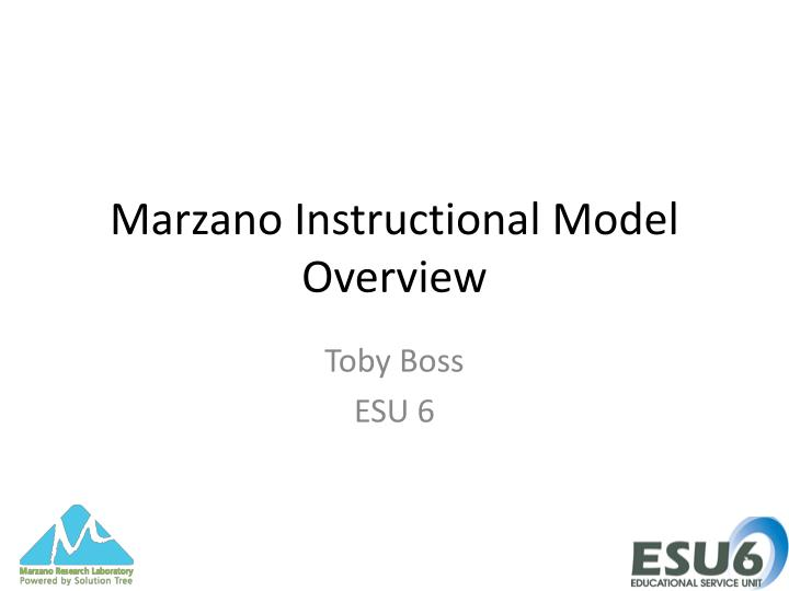 Marzano instructional model overview