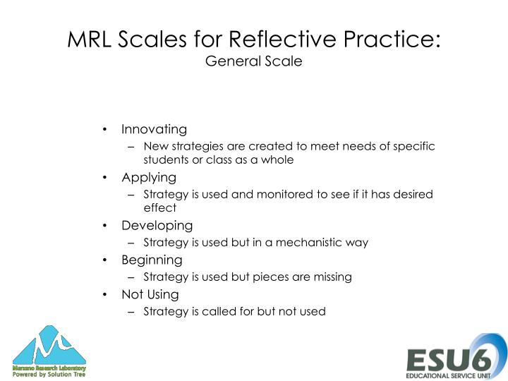MRL Scales for Reflective Practice