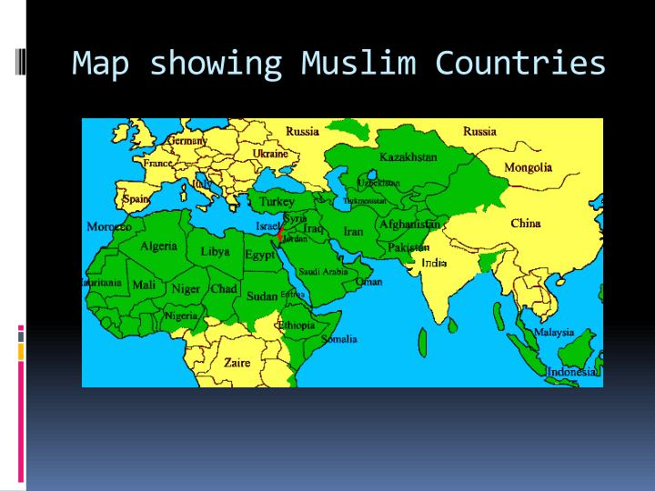 Map showing Muslim Countries