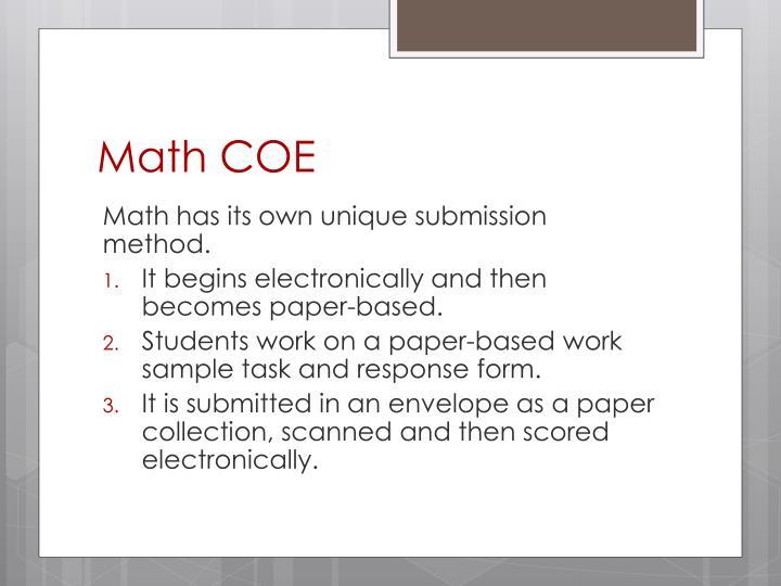 Math COE