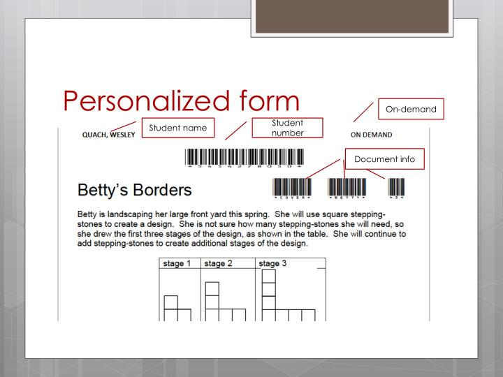 Personalized form