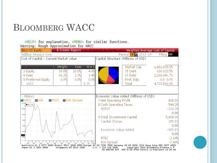 Bloomberg WACC