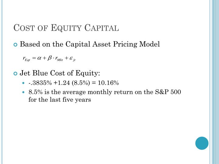 Cost of Equity Capital