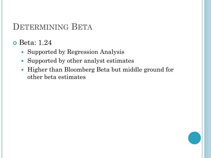 Determining Beta