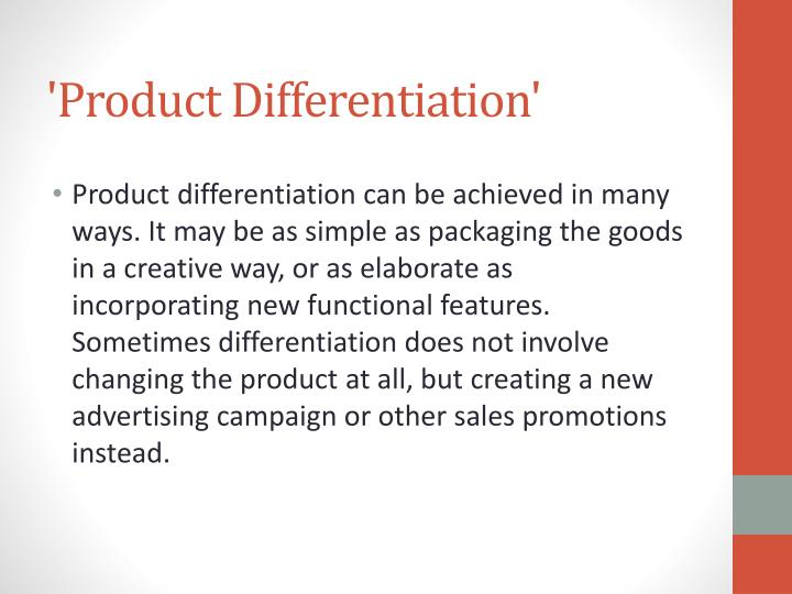 Product differentiation1