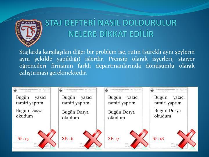 STAJ DEFTERİ NASIL DOLDURULUR