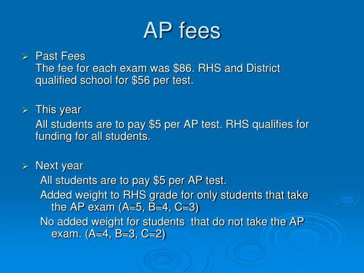 AP fees