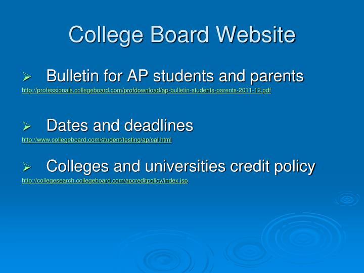 College Board Website