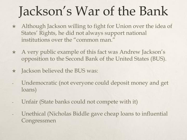 Jackson's War of the Bank