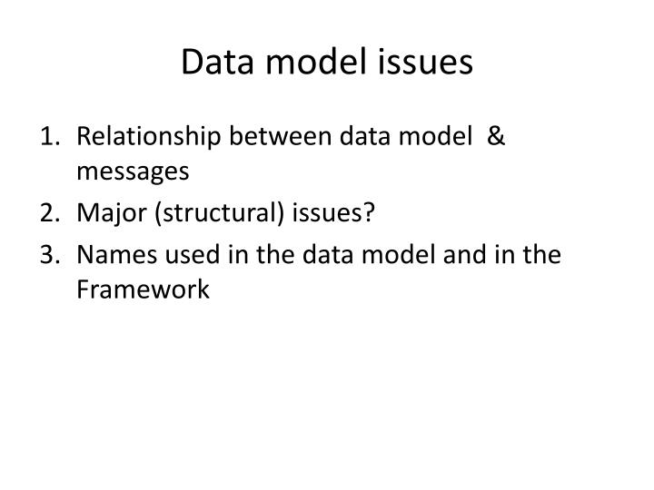 Data model issues