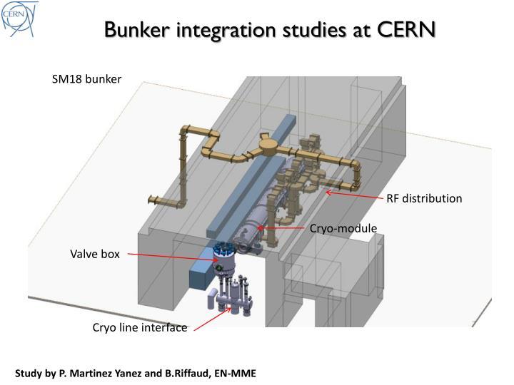 Bunker integration studies at CERN