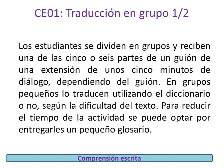 CE01: