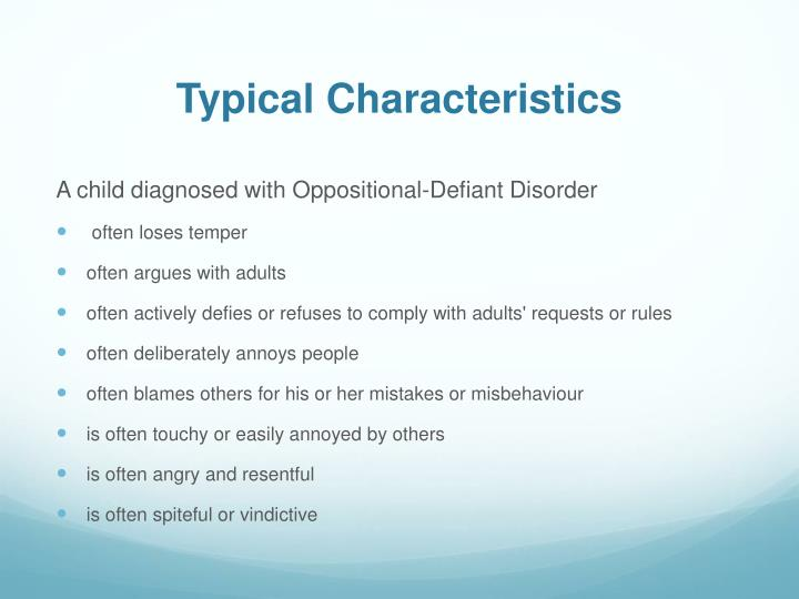 PPT - Oppositional Defiant Disorder PowerPoint ...
