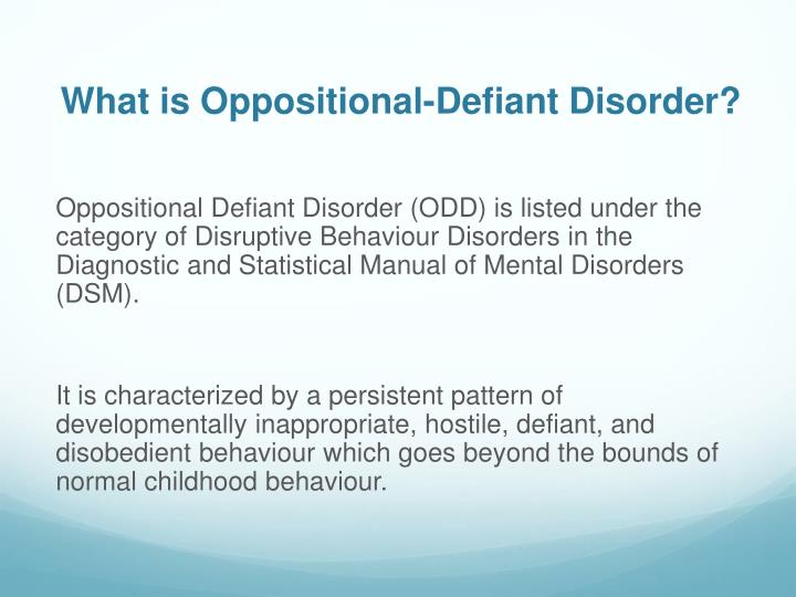 What are the Symptoms of Oppositional Defiant Disorder