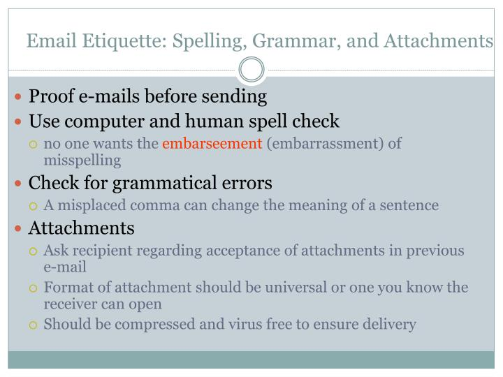 Email Etiquette: Spelling, Grammar, and Attachments