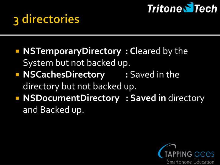 3 directories