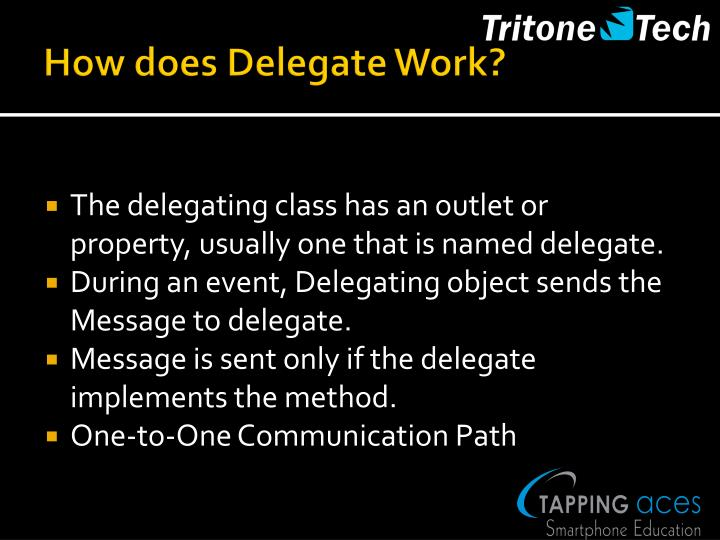 How does Delegate Work?