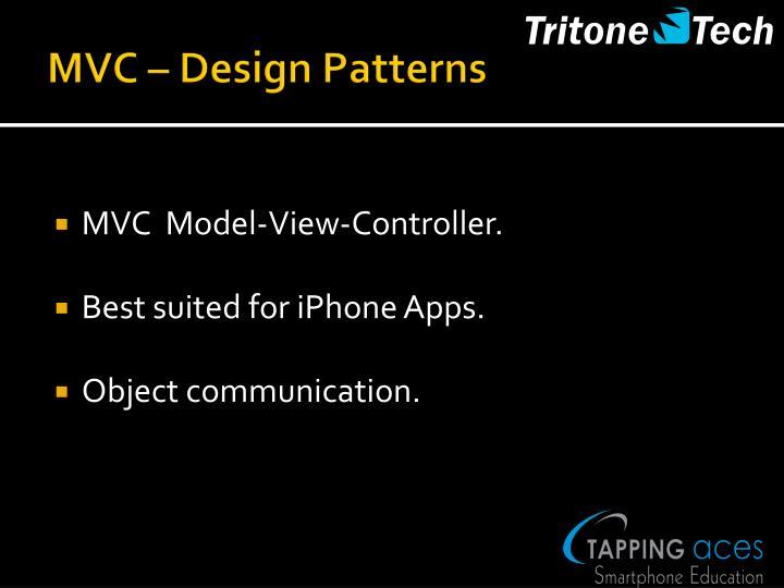MVC – Design Patterns