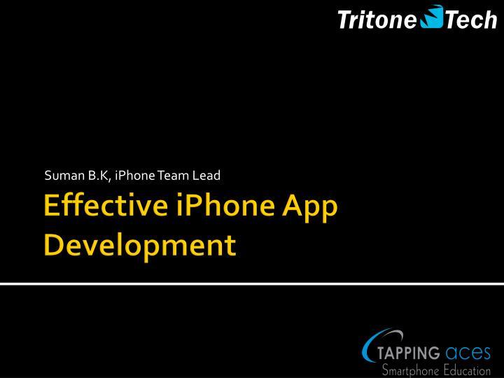 Suman B.K, iPhone Team Lead