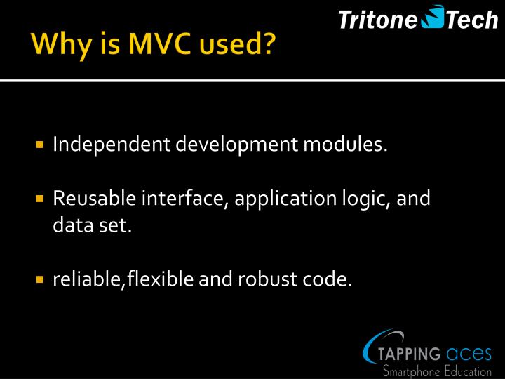 Why is MVC used?