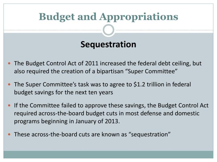 Budget and Appropriations