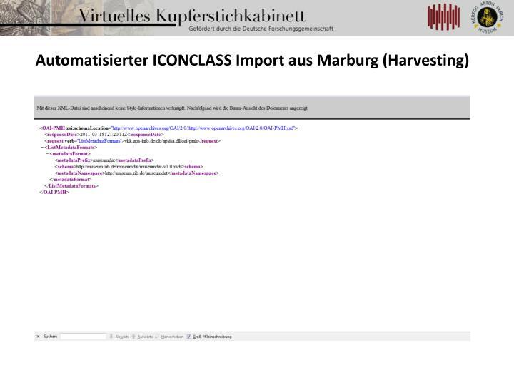 Automatisierter ICONCLASS Import aus Marburg (