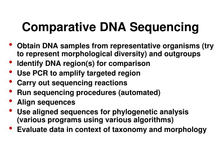 Comparative DNA Sequencing