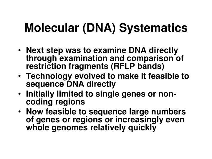Molecular (DNA) Systematics