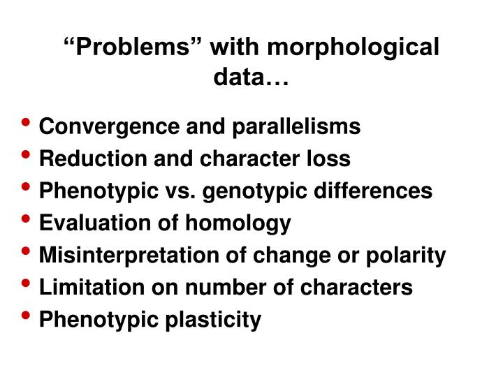 """""""Problems"""" with morphological"""