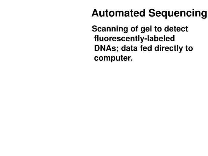 Automated Sequencing