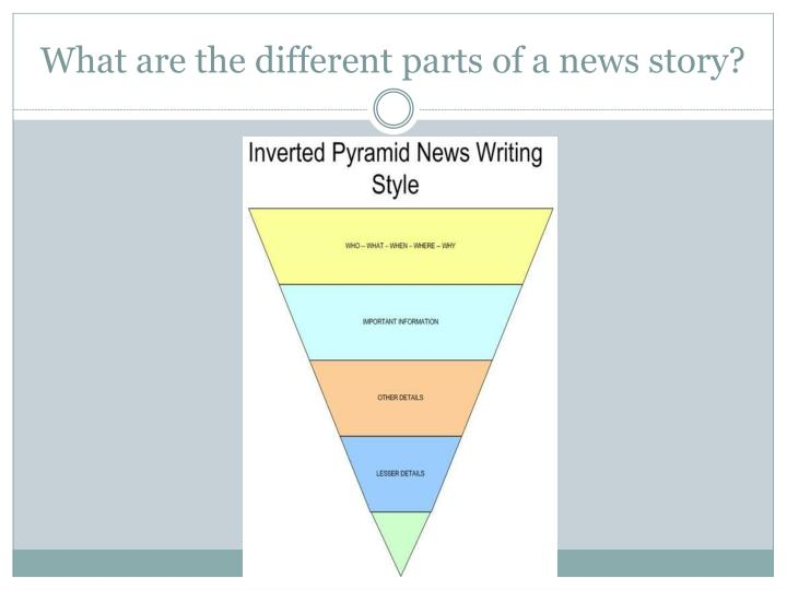 What are the different parts of a news story?