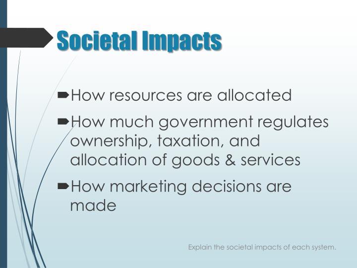 Societal Impacts