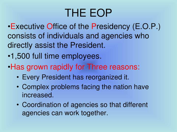 THE EOP