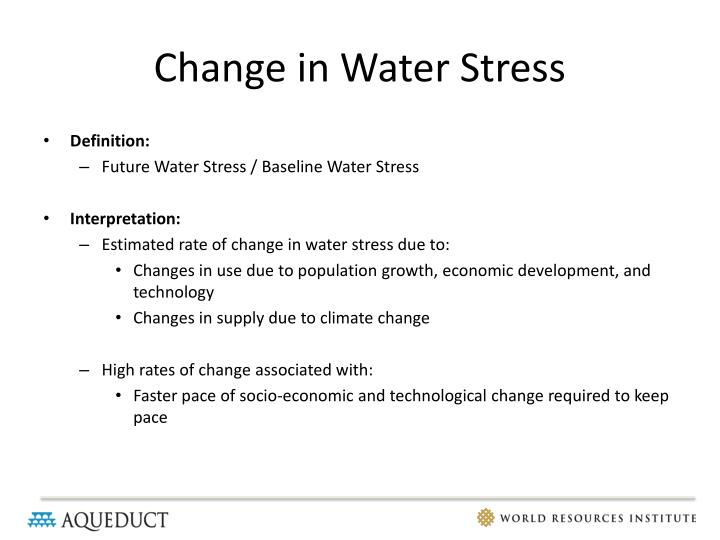 Change in Water Stress