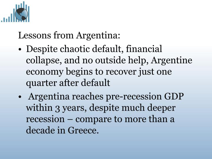 Lessons from Argentina