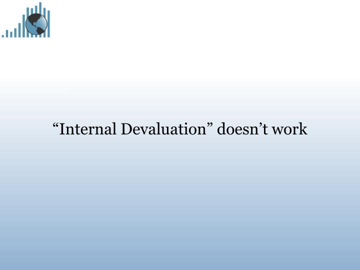"""Internal Devaluation"" doesn't work"