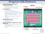 progress with firmware