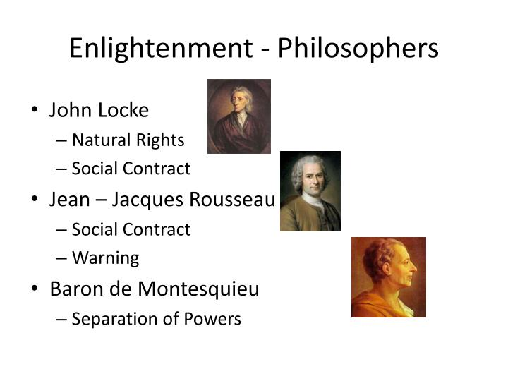 Enlightenment - Philosophers