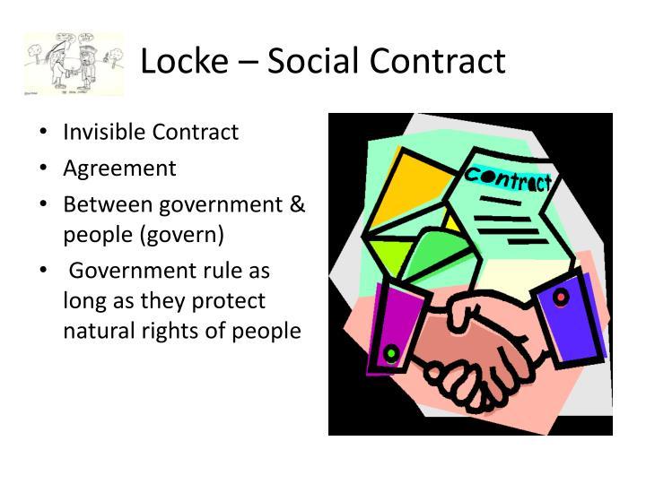 Locke – Social Contract