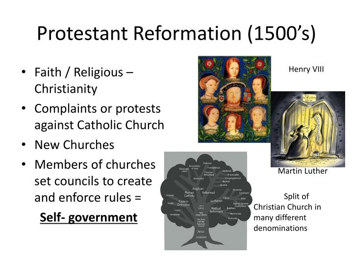 Protestant Reformation (1500's)