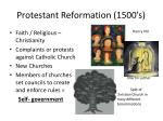 protestant reformation 1500 s
