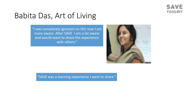 Babita Das, Art of Living