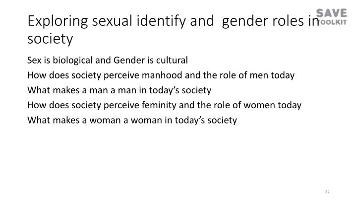 Exploring sexual identify and  gender roles in society