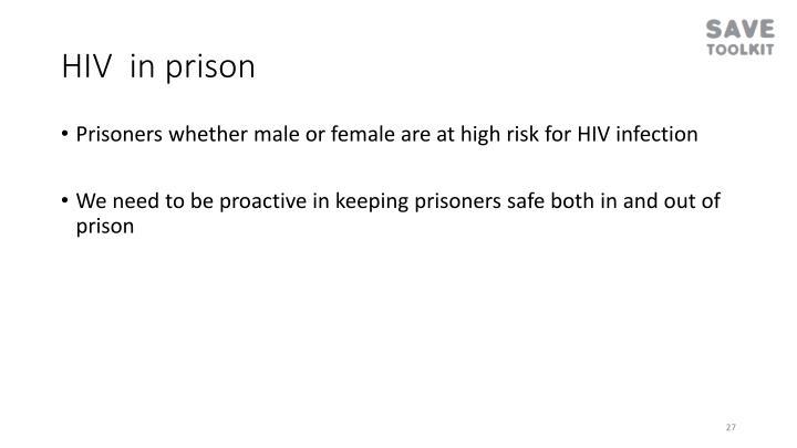 HIV  in prison
