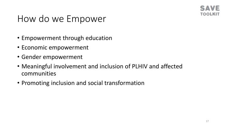 How do we Empower