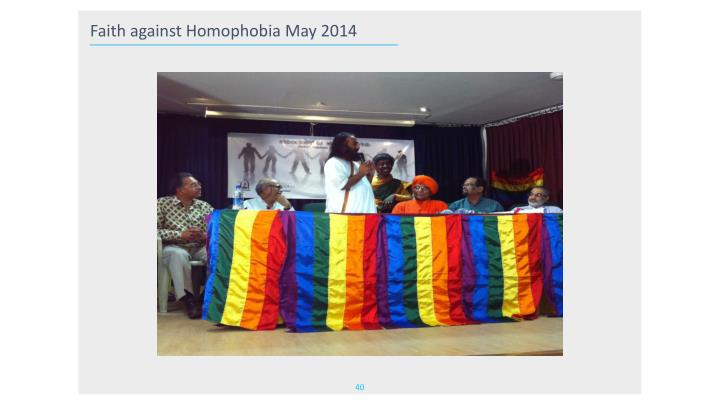Faith against Homophobia May 2014