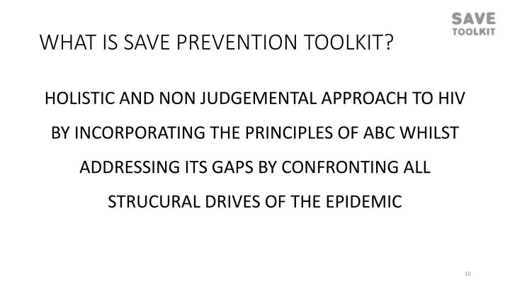 WHAT IS SAVE PREVENTION TOOLKIT?