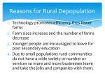 reasons for rural depopulation