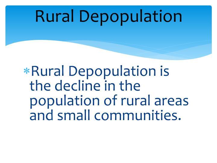 Rural Depopulation