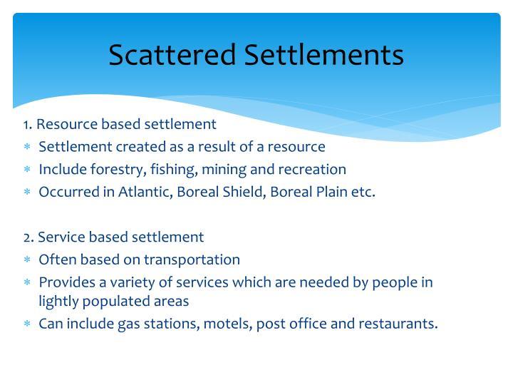 Scattered Settlements